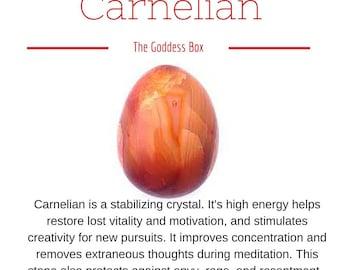 Medium Drilled Carnelian Yoni Egg