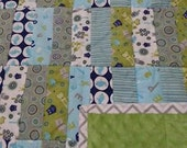 Baby Quilt with Minky back