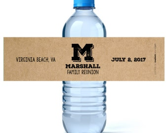 Family Reunion Personalized Water Labels - Water Bottle Labels - Custom Family Reunion