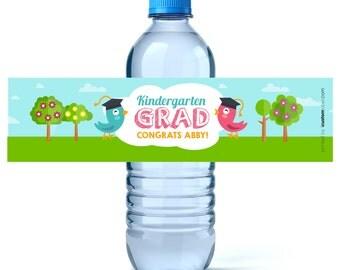 Graduation Favor Labels - Graduation Water Labels - Custom Water Labels - Kindergarten Graduation - Preschool Graduation - Class of 2017
