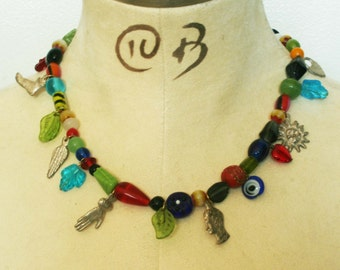 Beaded Milagros necklace