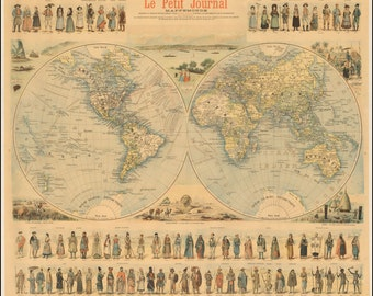 Map of the world, Atlas, Prints, World map print, Old world maps, Ancient, Map poster, Wall world map, World maps, Ancient maps, 280
