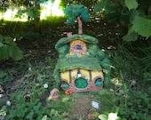 ooak hobbit house diorama, hobbiton ooak, fantasy house fairy garden hobbit hole sale