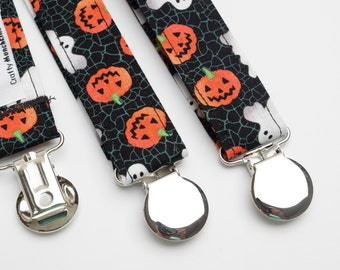 Suspenders - Halloween Pumpkins & Ghosts Adjustable Suspenders