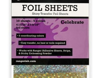 Ranger - Shiny Transfer Foil - Celebrate - 10 sheets