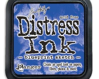 Ranger - Color of Month 2015 - Tim Holtz - Blueprint Sketch - Distress Ink Pad