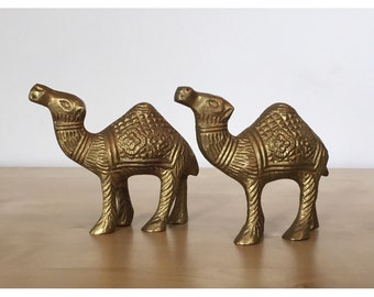 Pair of Brass Camels