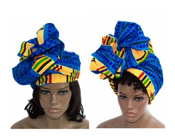 Ghana fabric head wraps/ African Headwraps / Fabric from Africa/ African hair accessory/ African Head scarf/ HT858