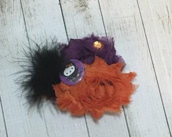Kitty Halloween hair clip
