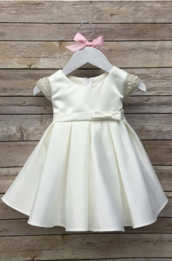 Baby Girl Christening Dress Baby Baptism Dress by BabyGalore0