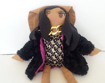 Cookie Doll- Handmade Bunny Doll, Celebrity Doll from Empire OOAK