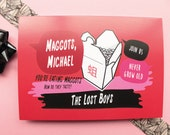 The Lost Boys Birthday Card In Red With Movie Quotes