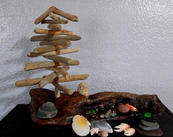 Natural Driftwood Pieces - Beach Collection Landscape - Sculpture - Kit - Zen Meditation - Home Beach Decor Assemblage DWL 5