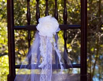 aisle decor, wedding aisle decoration, church pew decor, church decor, wedding table decor, ivory chiffon pew decor, pew tie, photo prop