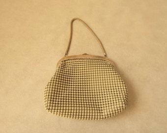 Oroton Beige Mesh Bag, Purse