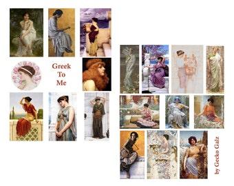 Greek To Me Digital Collage Set