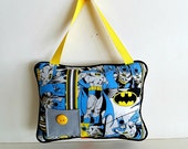 Hanging Pillow , Personalized Batman Tooth Fairy Pillow, Special Occasion , Super Hero Tooth Fairy Pillow , Boys Super Hero Room Decor