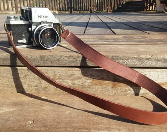 Camera Strap, DSLR Leather Camera Strap, Brown Leather Strap with Bronze, Gift for Photograph Lovers, Suitable for any Camera, Monogram
