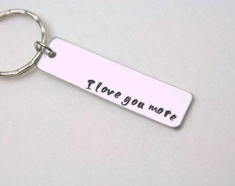 One keychain / I love you more keychain