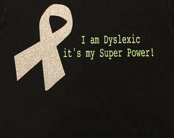Adult Custom Dyslexia Vinyl Shirt