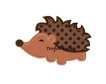 Digital Machine Embroidery Design - Porcupine Applique