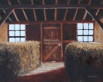 Hay Room - Framed original Painting