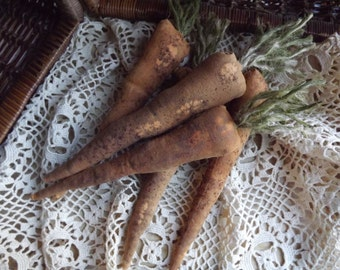 Primitive Grungy Carrots Grungy Carrot Bowl Fillers Primitive Carrots