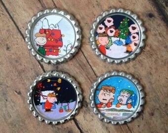 Charlie Brown bottle cap magnets