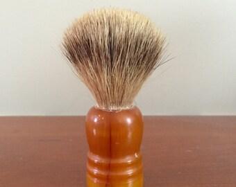 SALE-Vintage Pure Badger Amber Handle Shaving Brush