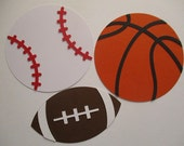 6 Sports (3 size options) Theme Decorations, Diecut Cutouts, for Centerpiece, Birthday Party, Diaper Cake, Baby Shower