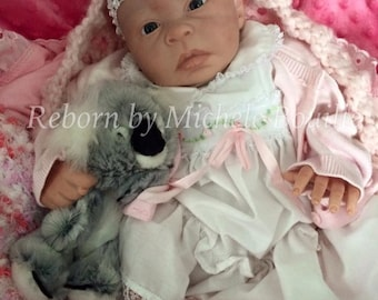 Valentine special...limited edition reborn baby girl Lilly sculpt by Angela Harris reborn by Michele Bouille available for adoption