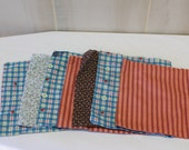 Little Cloth Bags, Fabric Gift Bags, Holiday Gift Bags, Primitive Gift Sack, Cloth Bag