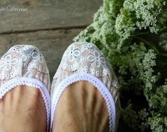 """BenitoDream socks - model """"White rose"""""""