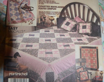 McCalls Crafts 3197 Easy Quilting Sewing Pattern - UNCUT - Marti Michell Patchwork Quilt Package