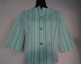 Striped 60s Jacket-Top