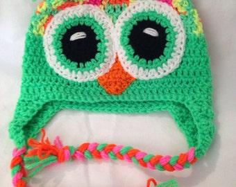 Neon Rainbow Owl