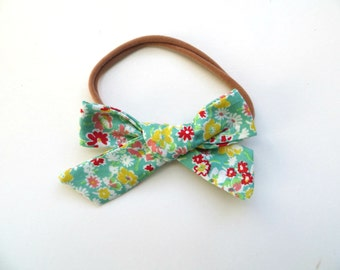 Hand Tied Hair Bows/One Size Fits All/Floral Bows/Little Girl's Bows