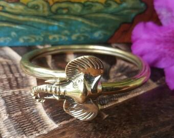 Lucky Brass Elephant Bangle