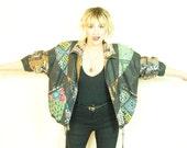 Winlit Leather jacket . Leather Jacket . Paisley Jacket . Hip Hop Jacket . Hip Hop Coat . Paisley Coat . Leather Coat . fresh prince