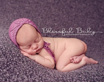 "Newborn ""Asymmetry"" Knit Bonnet, Newborn Photography Prop"