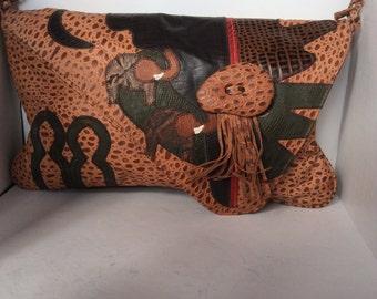 Unique leather printed purse