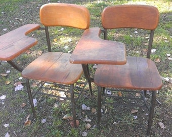 Antique Wood School Desks, 2