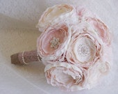 Fabric bouqhet, blush bouquet, brooch bouquet, blush bride bouquet