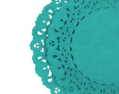 "Aqua Marine TEAL Paper Lace Doilies | 4"" 6"" 8"" 10"" 12"" Sizes 