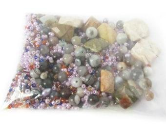 Bead Soup, Bead Mix, Bag of Beads, 3 oz Bead Mix, Destash Beads, Jewelry Supply, Loose Beads