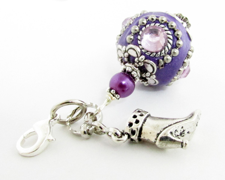 zipper pull handbag charm zipper charm purse charm boot