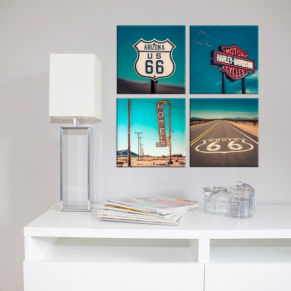 Harley Davidson Sign Canvas Arizona Travel /Office Decor/California/large  Art/kidu0027s Room Art/boy Girl Room Decor/motorcycle Sign