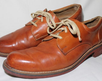 Men's Brown Leather Oxford Shoes Made in Romania Size 12