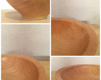Hand Turned Beech Bowl