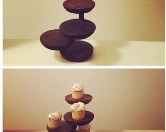 Four Tiered Display Stand Set (set of 2)